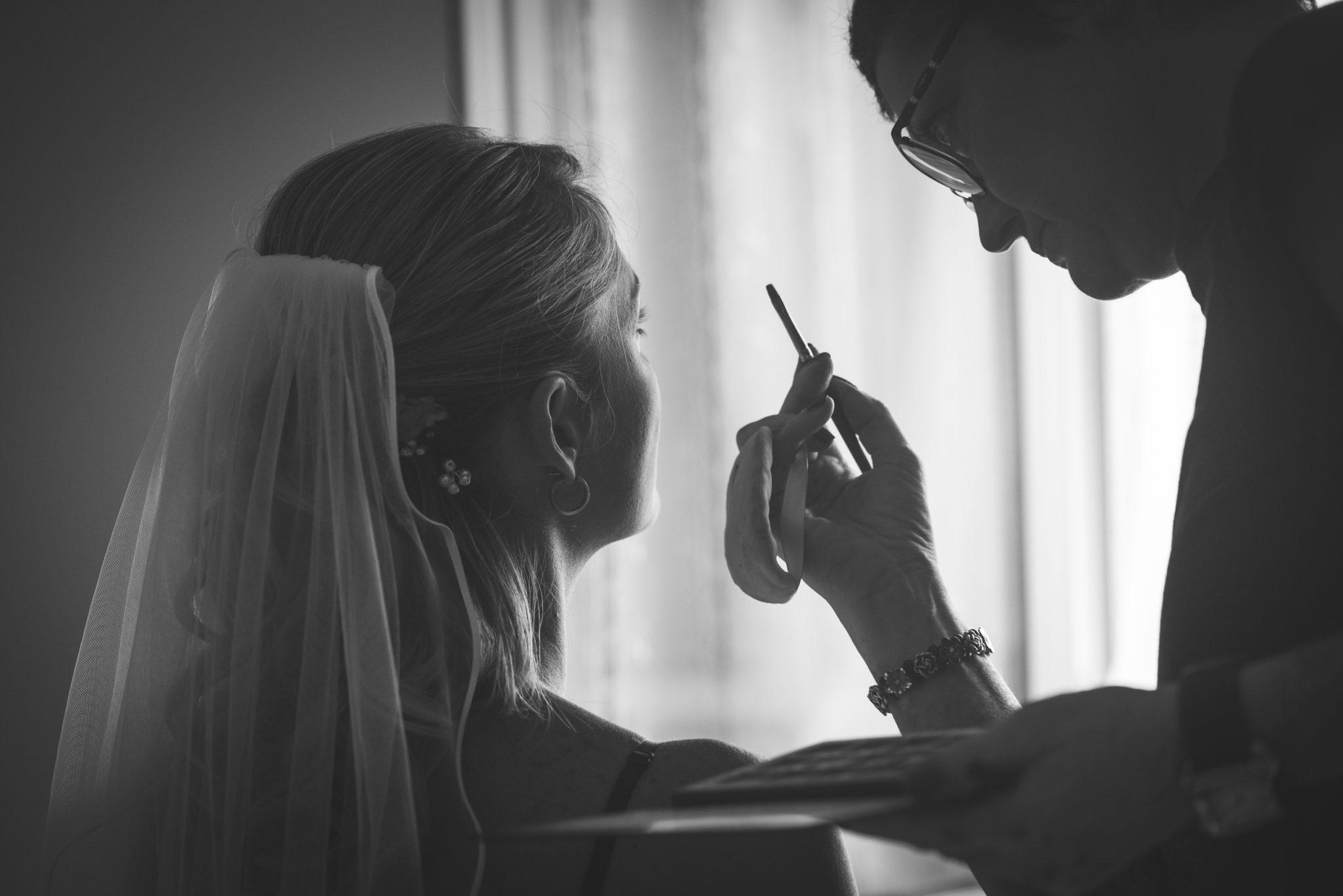 Trucco sposa con velo